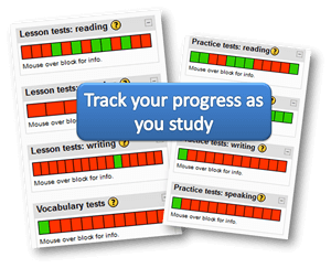 Track your progress as you study