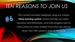 6: Our unique 3Step learning system